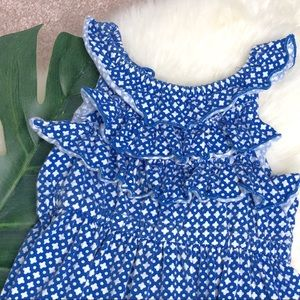 5/20$ Carter's Blue and white Dress 3T w ruffles